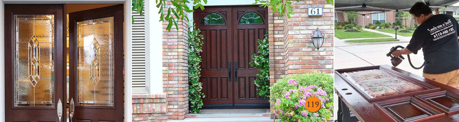 Wood Door Refinishing Walden On Lake Houston TX