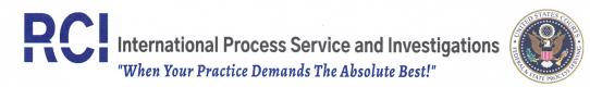 RCI Process Service, Legal Process Server Anne Arundel County MD