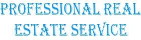Professional Real Estate Service, residential real estate specialist Gobbler AZ